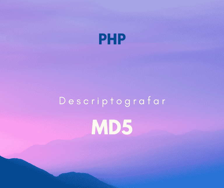 como descriptografar md5 php capa