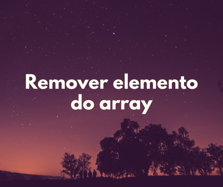 remover elemento do array capa